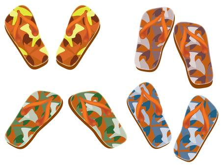 flip flops: Flip flops set Illustration