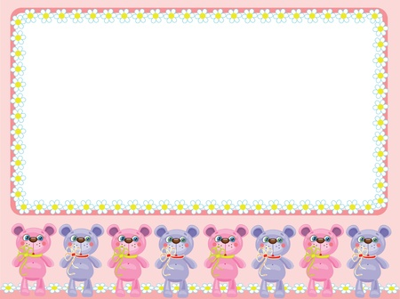 Babies frame with bears Stock Vector - 9800376