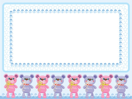 Babies frame with bears Stock Vector - 9800375