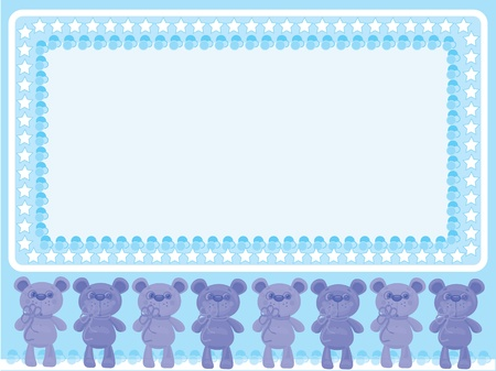 Babies frame with bears Stock Vector - 9800377