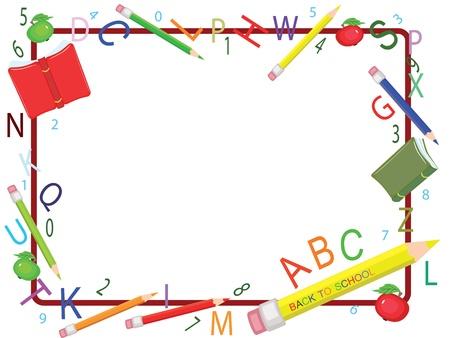 School frame Stock Vector - 9800389