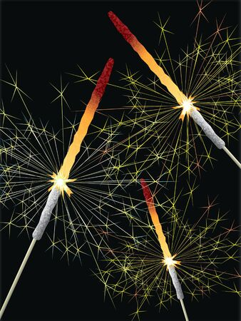 A lit sparklers  photo