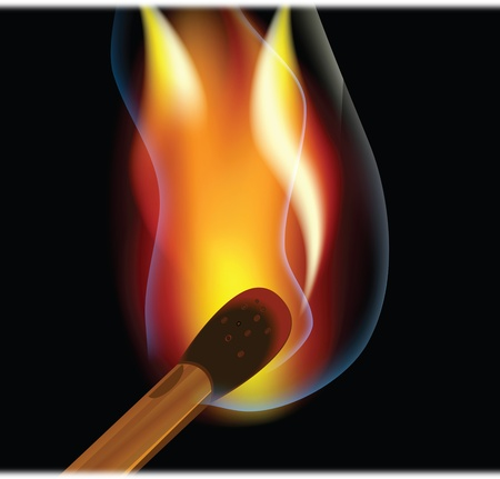 Burning match  Stock Photo - 9800395