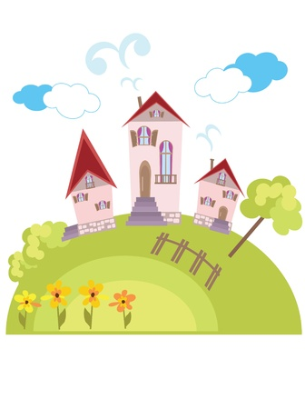 Rural landscape Stock Vector - 9930219