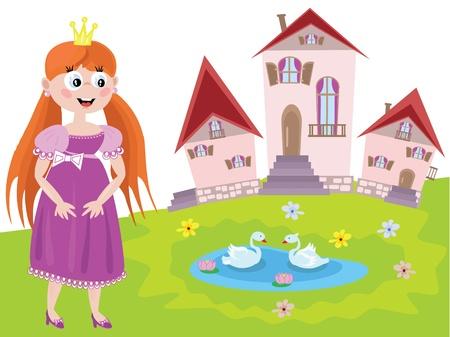 Fee oder Prinzessin Vektorgrafik