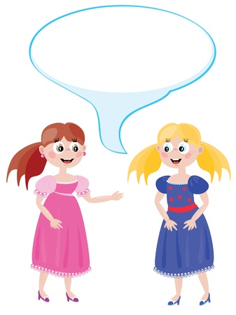 wonder: Dialog of the two young  girls