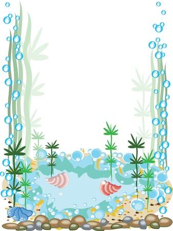 bottom of the sea: Aquarium frame Illustration