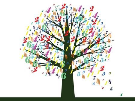 digital painting: School tree,vector.