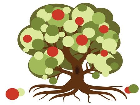 Apple tree illustration Stock Vector - 9953015