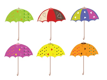 Umbrellas set,vector Stock Vector - 9944451