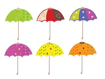 Umbrellas set,vector Stock Vector - 9944451