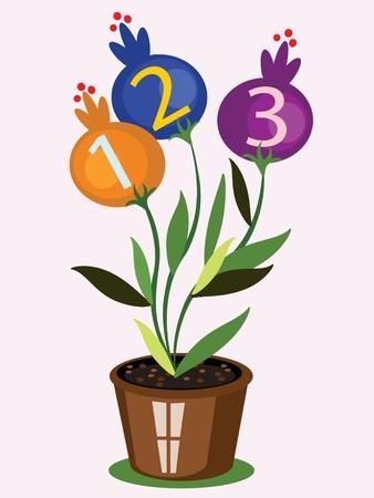 preschool poster: School flower,vector Illustration