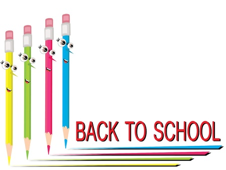 Ritorno a scuola, vettore Archivio Fotografico - 9944453