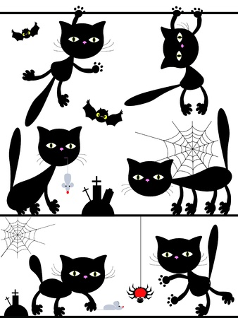 Halloween cats Vector