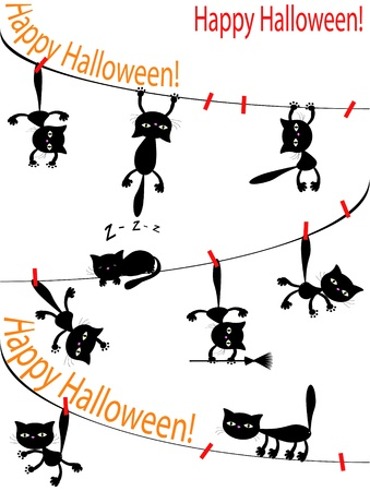 meow: Halloween background