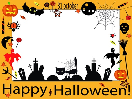 Halloween frame Vettoriali
