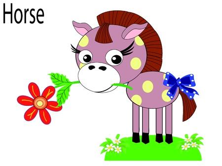 animal alphabet:   Vector animals,horse Illustration