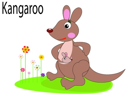 animal alphabet:   Vector animals,kangaroo Illustration