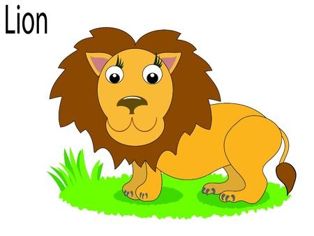 Vector animals,lion Stock Vector - 10203776