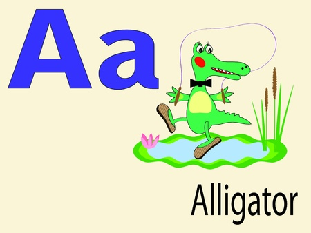 alphabet wallpaper: Animal alphabet A