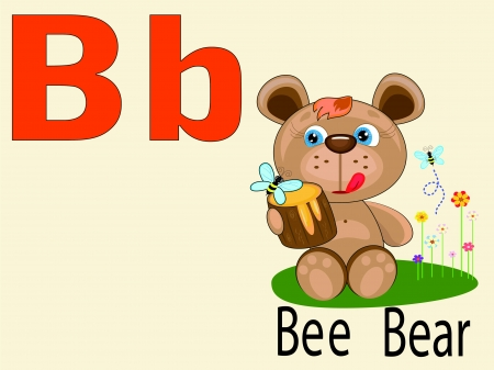 alphabet wallpaper: Animal alphabet B Illustration