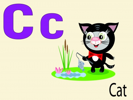 alphabet wallpaper: Animal alphabet C Illustration