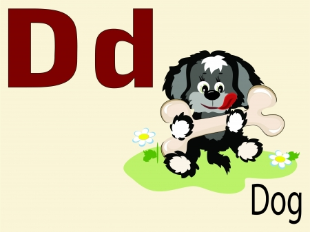 alphabet wallpaper: Animal alphabet D