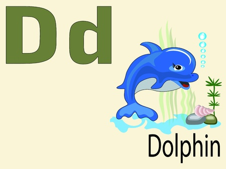 Animal alphabet D Vector