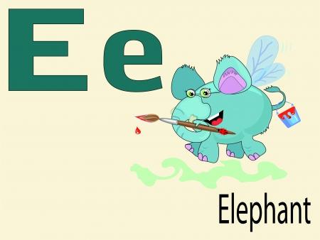 Animal alphabet E Stock Vector - 10265087