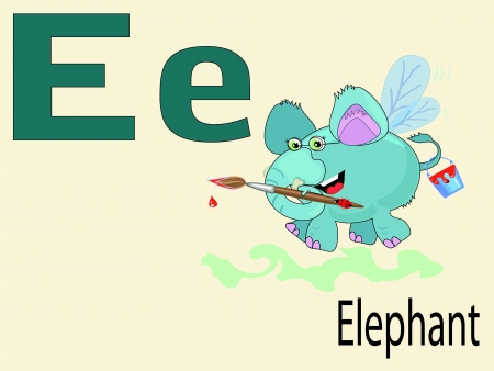 alphabet wallpaper: Animal alphabet E