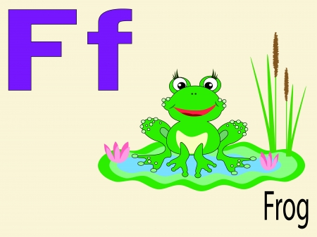 Animal alphabet F Vector