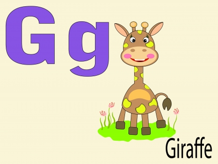 Animal alphabet G Stock Vector - 10264992