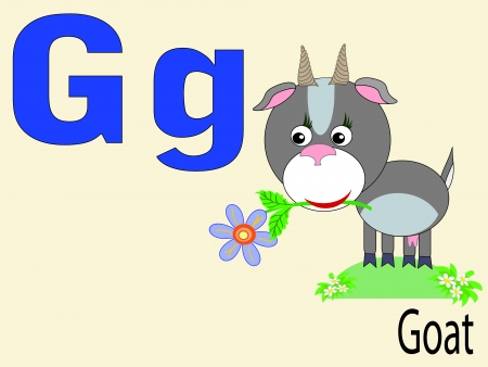 Animal alphabet G Vector