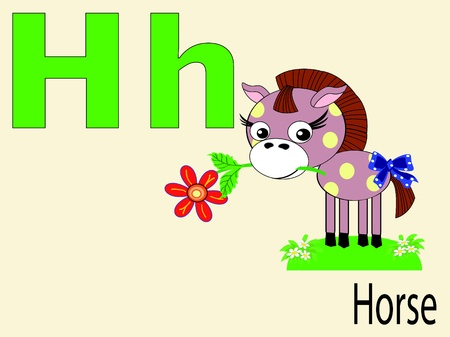 alphabet wallpaper: Animal alphabet H Illustration