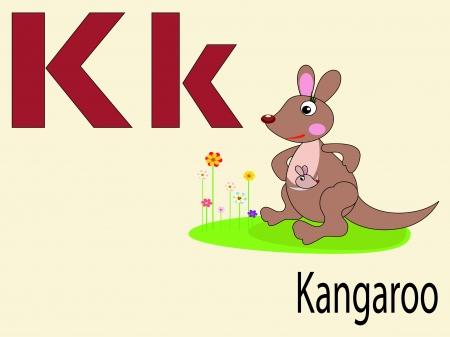 Animal alphabet K Vector