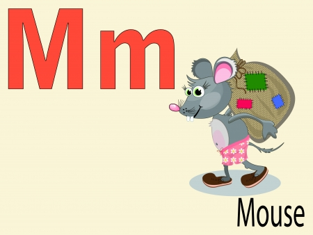 Animal alphabet M Vector