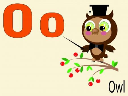 Animal alphabet o Vector