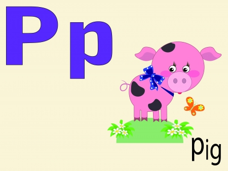 alphabet wallpaper: Animal alphabet P