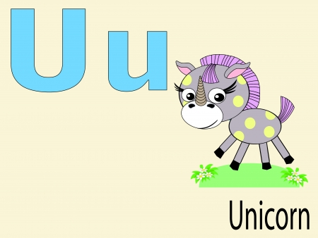 Animal alphabet U Vector