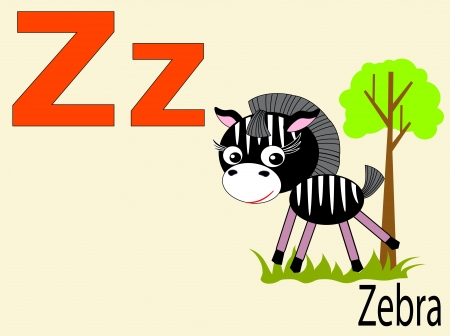 Animal alphabet Z Vector