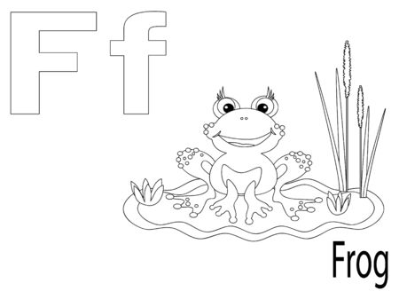 Coloring Alphabet for Kids, F Vector