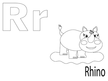 Coloring Alphabet for Kids ,R Vector