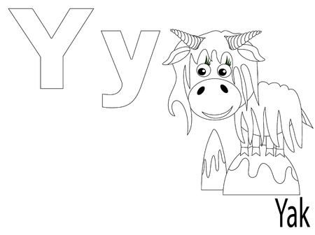 yak: Coloring Alphabet for Kids ,X Illustration