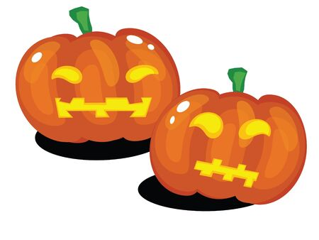 Vector Halloween pumpkins Vector
