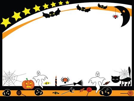 Telaio di Halloween Vector Archivio Fotografico - 10413147
