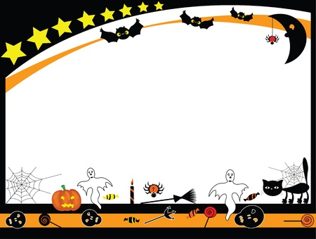 halloween party: Vector Halloween frame Illustration