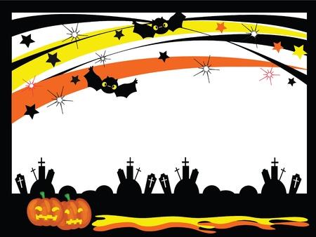 pumpkin border: Vector Halloween frame Illustration