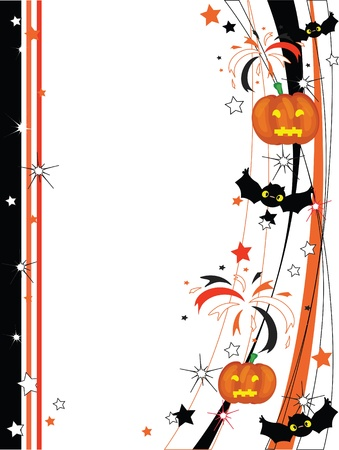 halloween cartoon: Vector Halloween frame Illustration