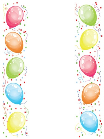 Border with balloons Stock Vector - 10487880