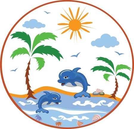 ocean view: Summer icon